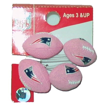 Pink Football Hair Ties