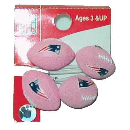 Pink Football Hair Ties