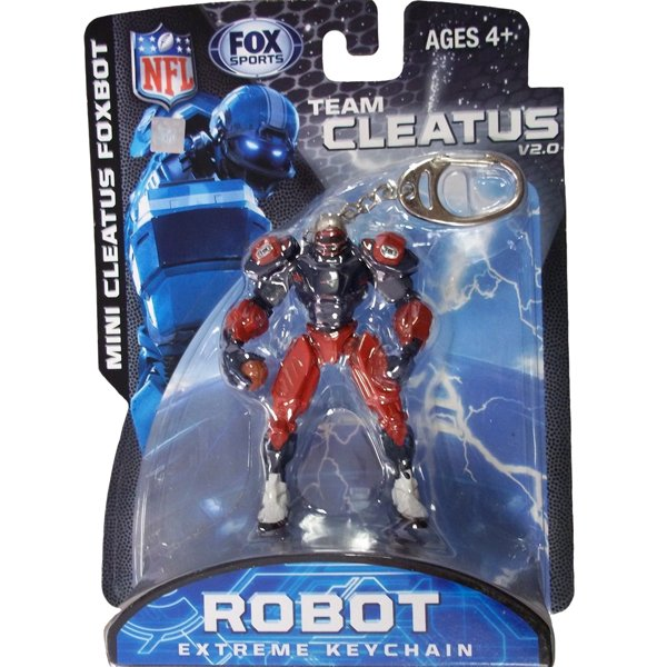 Patriots Fox Cleatus Robot Keychain