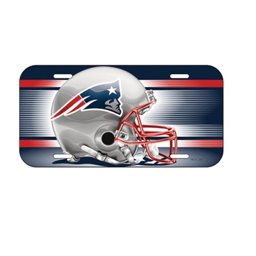 Patriots Helmet License Plate