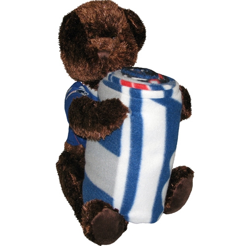 Patriots Hugger Bear and Blanket