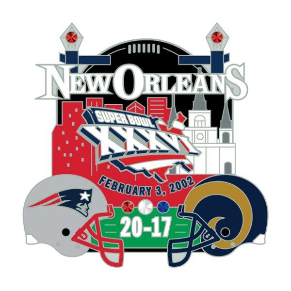 SB36 Dueling Pin Patriots-Rams