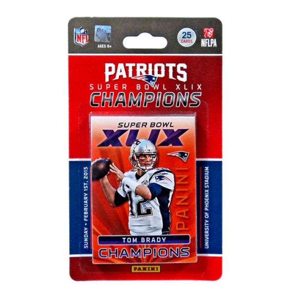 Patriots Super Bowl XLIX Champions Team Card Set
