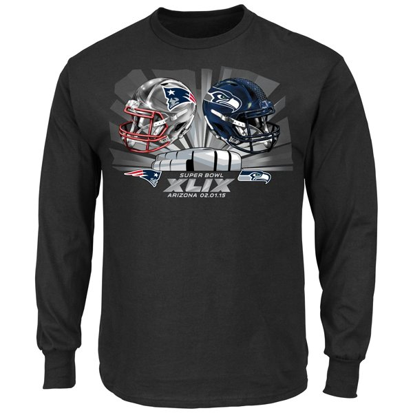 Patriots/Seahawks Dueling Long Sleeve Tee