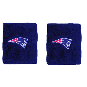 Pats Terry Wristbands-Navy