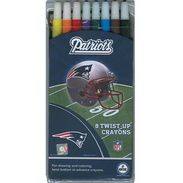 Patriots Twist Up Crayons-8 pk