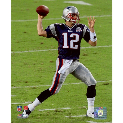 Tom Brady 50th Ann 8x10 Carded Photo