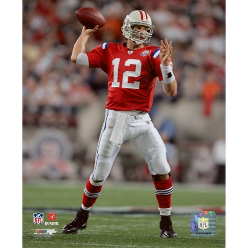 Tom Brady Throwback 8x10 Carded Photo
