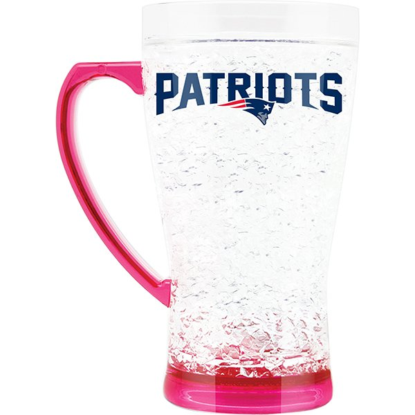 Patriots Pink Crystal Freezer Mug