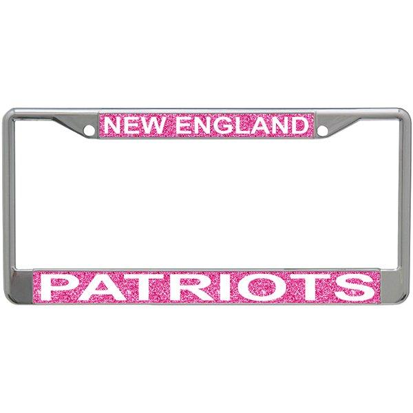 Pink Glitter License Plate Frame