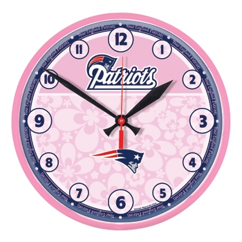 Pink Patriots Wall Clock