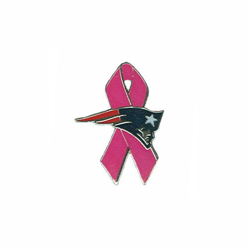Patriots Logo Pink Ribbon Pin