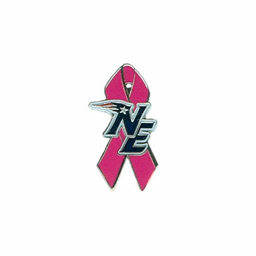 NE Logo Pink Ribbon Pin