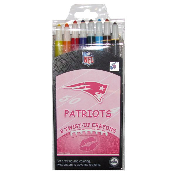 Patriots Pink Twist Up Crayons 8 Pack