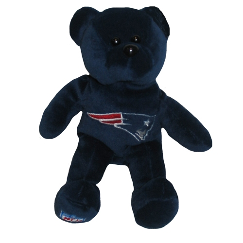 Patriots 8inch Plush Bear-Navy