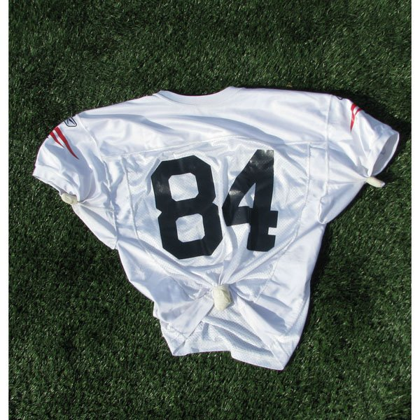 2006-2011 White #84 Practice Worn Jersey