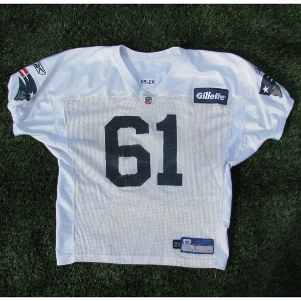 2006-2011 White #61 Practice Worn Jersey