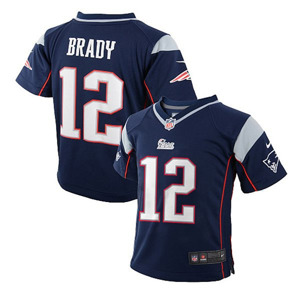 2014 Preschool Nike Tom Brady Game Jersey-Navy