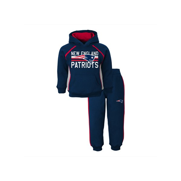 Preschool Classic Fan Fleece Set-Navy/Red