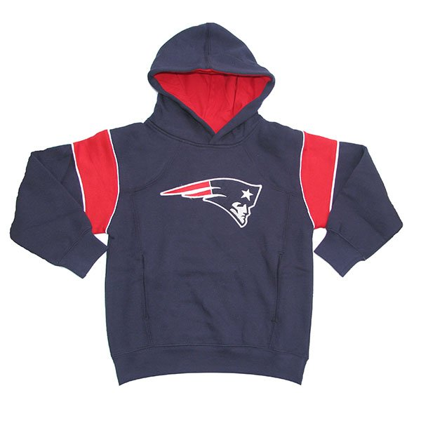 Patriots Preschool Colorblock Hood-Navy/Red