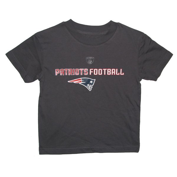 Preschool Line/Football Tee-Charcoal