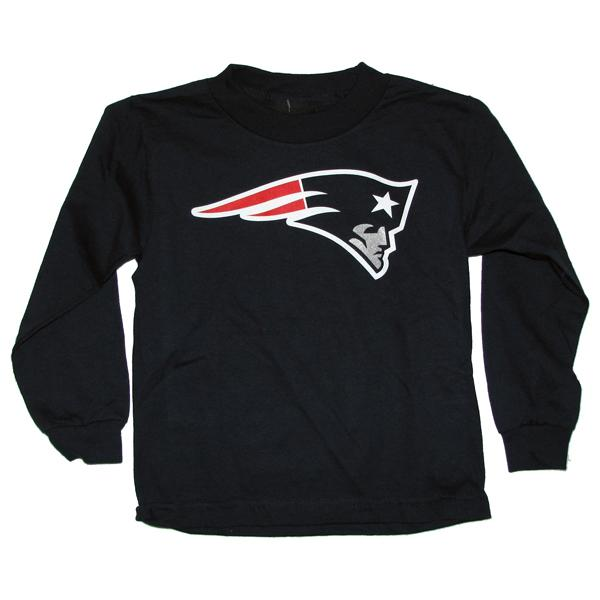 Toddler Patriots Logo Long Sleeve Tee-Navy