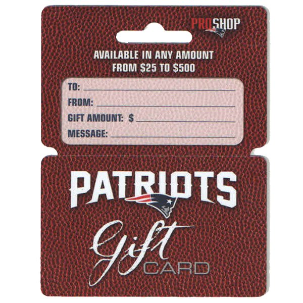 Patriots ProShop Gift Cards