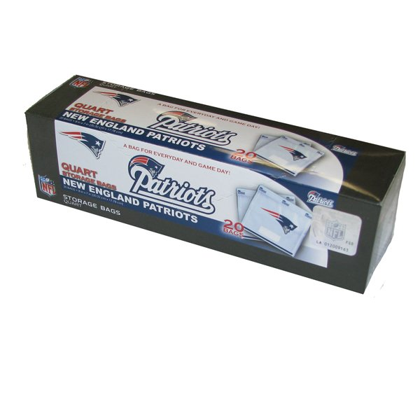 Patriots Quart Bags - Box of 20