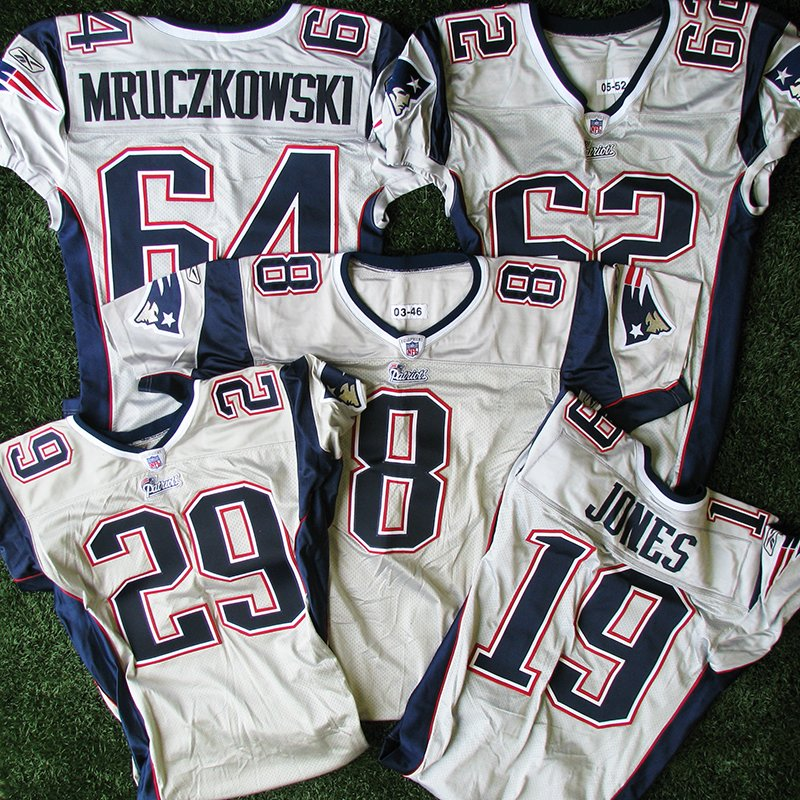 2003-2007 Silver Team Issue Game Jerseys