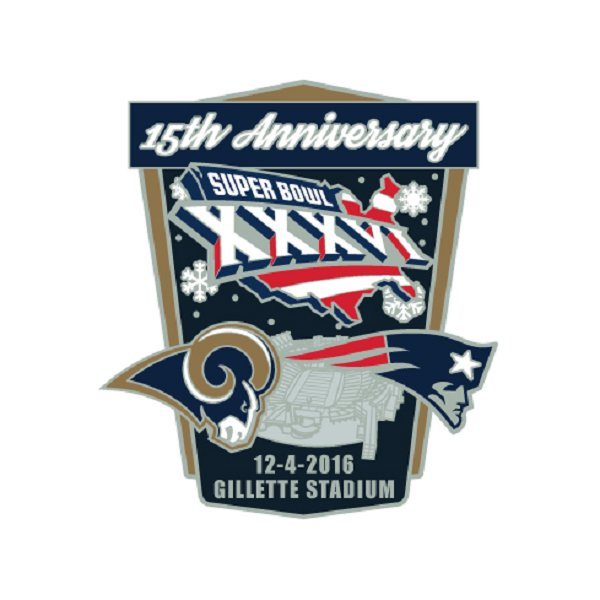 Patriots/Rams Game Day Pin