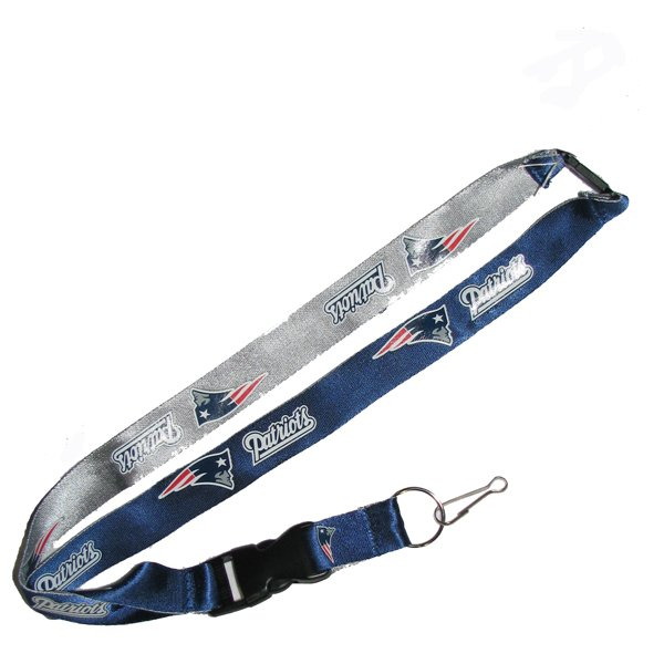 Patriots Logo Reversible J-Hook Lanyard