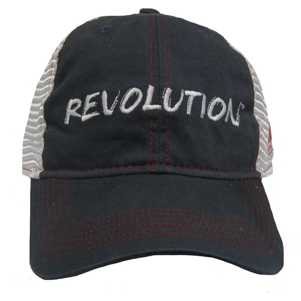 Revolution Adjustable Mesh Back Cap-Navy/White