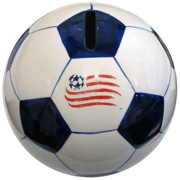 Revs Soccer Ball Ceramic Bank