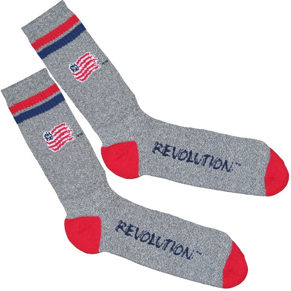 Revolution 2-Stripe Marble Grey Sock