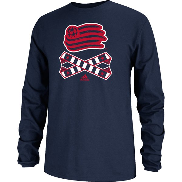 Revolution Crossed Up Long Sleeve Tee-Navy