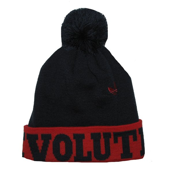 Revs Cuffed Pom Knit Hat