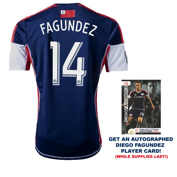 Diego Fagundez 2013 Revolution Home Jersey