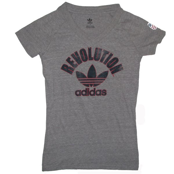 Ladies Revolution Trefoil Tee-Gray