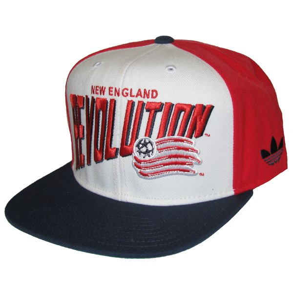 Revolution Snapback Cap-White/Red
