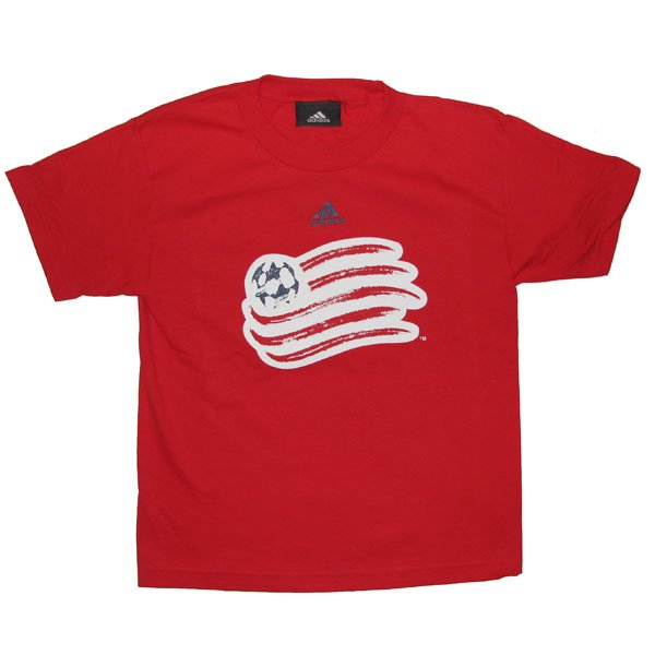Youth Basic Logo Flag Tee-Red