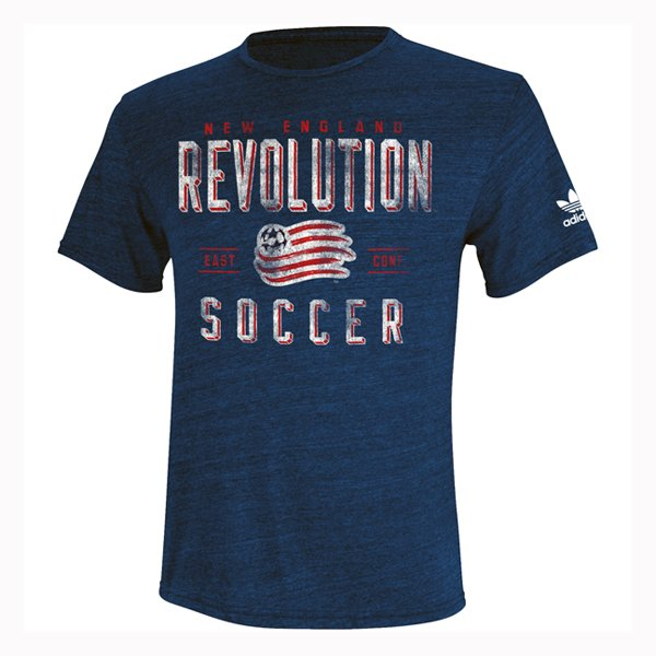 Revs Youth Triblend Tee-Navy