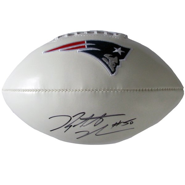 Rob Ninkovich Signed 3 Panel Football