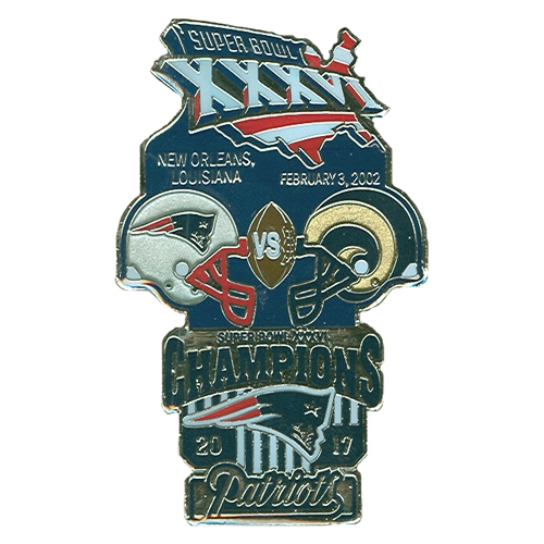 Super Bowl XXXVI Commemorative Pin