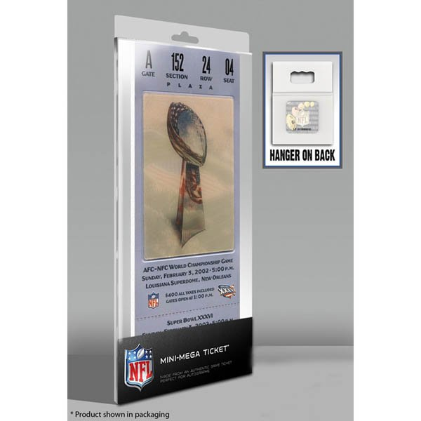 Super Bowl XXXVI Mini Mega Ticket