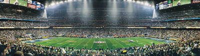 Pats vs. Panthers Super Bowl XXXVIII Panoramic Photo