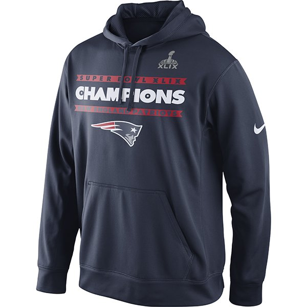 Super Bowl XLIX Champions Hood-Navy by Nike