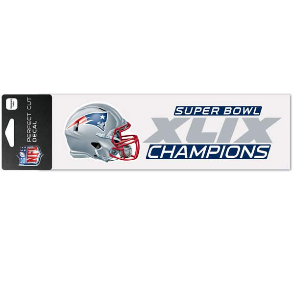 Super Bowl XLIX Champs 3x10 Perfect Decal