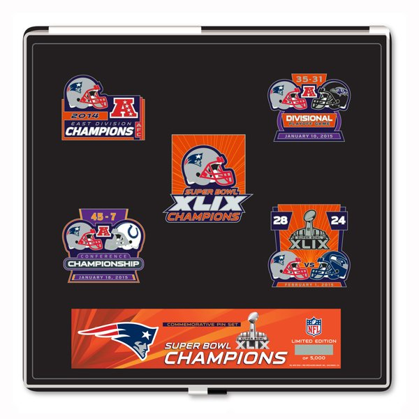 Super Bowl XLIX Champions 5-Pin Set