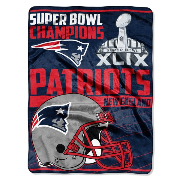 Super Bowl XLIX Champions Raschel Throw