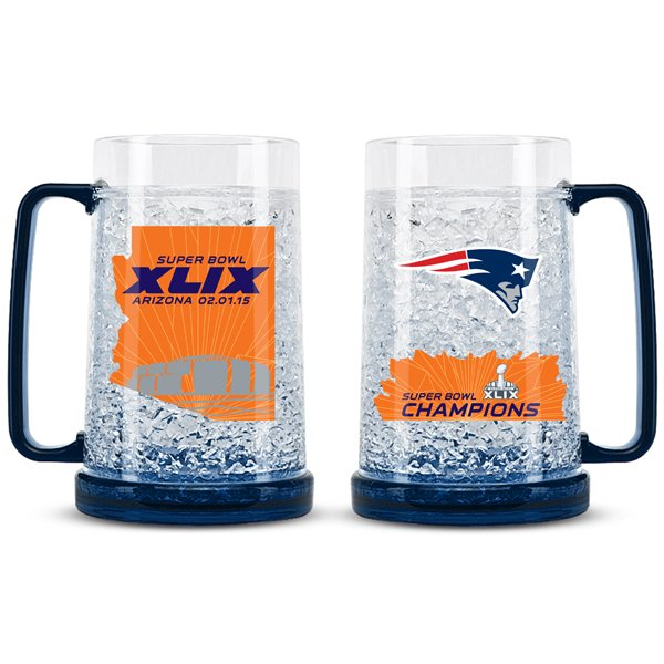 Super Bowl XLIX Champs Crystal Freezer Mug